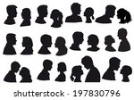 lovers  silhouette pair of... | Shutterstock . vector #197830796