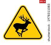 deer crossing traffic sign.... | Shutterstock .eps vector #1978311083