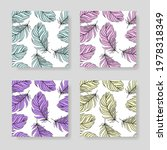 set of bird feathers. tribal... | Shutterstock .eps vector #1978318349