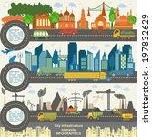 set of modern city elements for ... | Shutterstock .eps vector #197832629