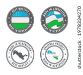 made in uzbekistan   set of... | Shutterstock .eps vector #1978334270