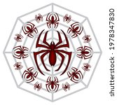 spider web and spiders vector... | Shutterstock .eps vector #1978347830