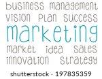 marketing concept | Shutterstock . vector #197835359
