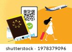 young woman traveler with...   Shutterstock .eps vector #1978379096