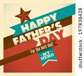 illustration of retro father's... | Shutterstock .eps vector #197838428