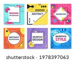 memphis card. funky abstract...   Shutterstock .eps vector #1978397063