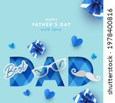 happy father's day greeting... | Shutterstock .eps vector #1978400816