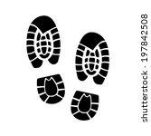 shoe print icon | Shutterstock .eps vector #197842508