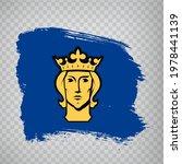 flag of stockholm brush strokes....