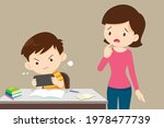 mother in trouble with a child...   Shutterstock .eps vector #1978477739