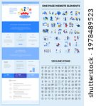 one page website design...   Shutterstock .eps vector #1978489523