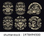 a set of black and white biker... | Shutterstock .eps vector #1978494500