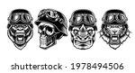 a set of black and white biker... | Shutterstock .eps vector #1978494506