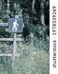 Image Of Human Hiker Symbol On...