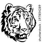 tiger head emblem design   big... | Shutterstock .eps vector #197854289