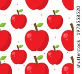 red apple seamless pattern....   Shutterstock .eps vector #1978558520