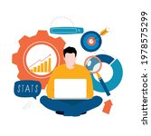 business statistical data... | Shutterstock .eps vector #1978575299