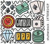Hand Drawn Doodle Gambler Tools ...