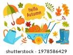 autumn hand drawn trendy garden ...   Shutterstock .eps vector #1978586429