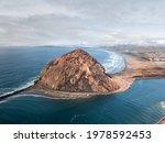 Morro Rock In Morro Bay  Ca