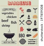 barbecue grill elements. grill...   Shutterstock .eps vector #197859308