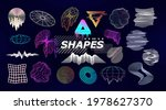 trendy retro futuristic shapes. ... | Shutterstock .eps vector #1978627370