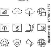 seo icon isolated on white...