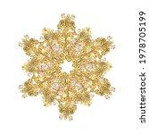 round flower ornament. unusual... | Shutterstock .eps vector #1978705199