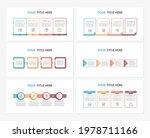 set of six infographic... | Shutterstock .eps vector #1978711166