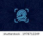 fingerprint in circuit cyber...   Shutterstock .eps vector #1978712249