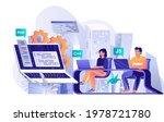 programming software concept in ...   Shutterstock .eps vector #1978721780