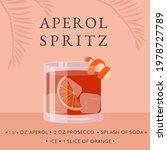 aperol spritz cocktail recipe.... | Shutterstock .eps vector #1978727789