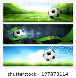 set of football banners | Shutterstock .eps vector #197873114