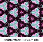 mottled pink ornament pattern... | Shutterstock .eps vector #197874188