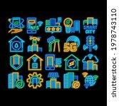 smart city technology neon... | Shutterstock .eps vector #1978743110