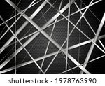 metallic stripes on dark... | Shutterstock .eps vector #1978763990