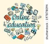 online education e learning... | Shutterstock . vector #197878094