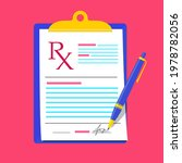 rx medical prescription blank... | Shutterstock .eps vector #1978782056