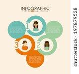 people design over beige... | Shutterstock .eps vector #197879528