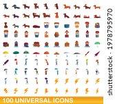 100 universal icons set.... | Shutterstock .eps vector #1978795970