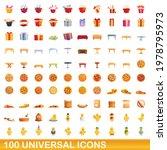 100 universal icons set.... | Shutterstock .eps vector #1978795973