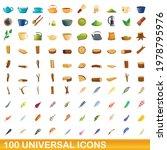 100 universal icons set.... | Shutterstock .eps vector #1978795976