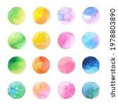 circle shape ombre pastel color ... | Shutterstock .eps vector #1978803890
