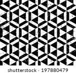 black and white hexagonal... | Shutterstock .eps vector #197880479