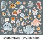 vector set of cute sea animals... | Shutterstock .eps vector #1978825886