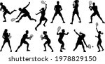 a set of tennis player man and ... | Shutterstock .eps vector #1978829150