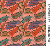 seamless pattern with unusual... | Shutterstock .eps vector #1978863806