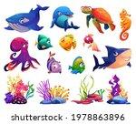 animals of ocean  corals and... | Shutterstock .eps vector #1978863896