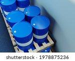 Blue Barrels On The Pallet....