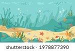 underwater world sea bottom ... | Shutterstock .eps vector #1978877390